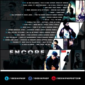Encore mixtape back cover