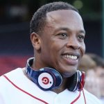BOSTON - APRIL 04:  Producer and musician Dr. Dre is on the field before the Boston Red Sox take on the the New York Yankees on April 4, 2010 during Opening Night at Fenway Park in Boston, Massachusetts. Dre is promoting the Boston Red Sox version of his Beats by Dr. Dre headphones.  (Photo by Elsa/Getty Images)