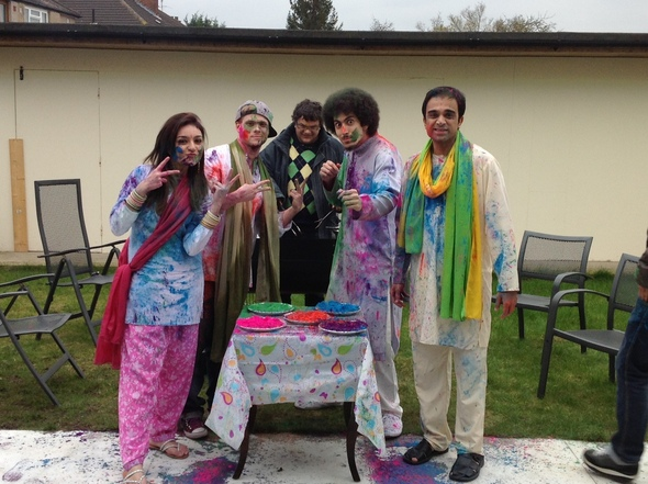 Some of the cast of Cloud 9 get set for Holi!