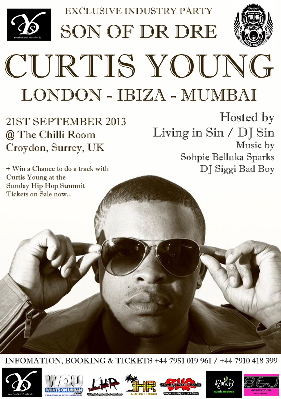 Dr Dre's Son Curtis Young Live in London, UK and Ibiza with DJ Sin + contest
