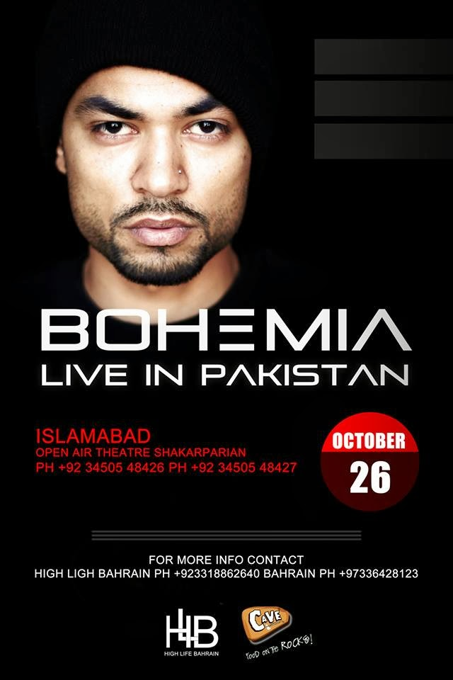 bohemia live in pakistan