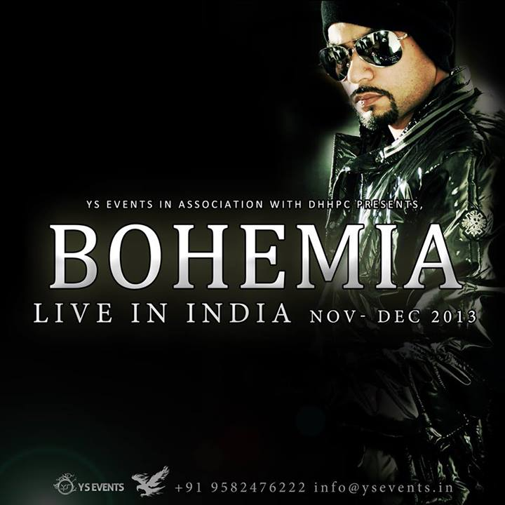 BOHEMIA the punjabi rapper India Tour 2013