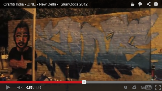 Watch Graffiti Artists at work in India