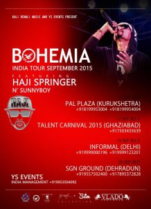 bohemia tour dates after first delhi show