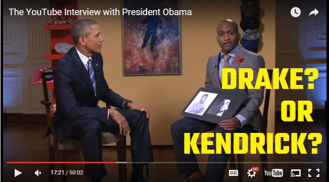 President Obama on : Drake or Kendrick?