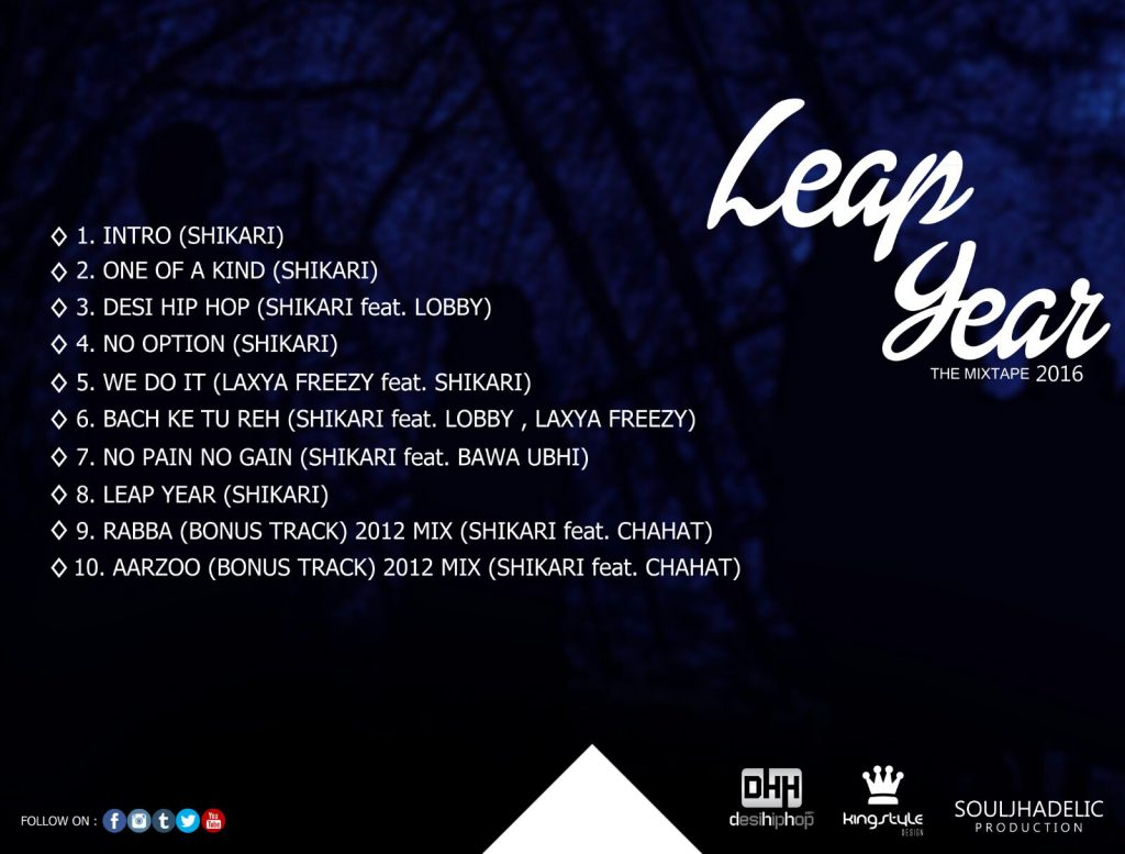 leap year the mixtape 2016 back