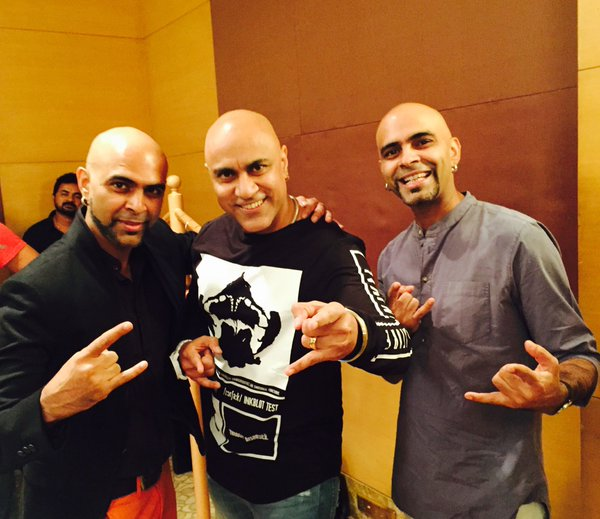 Baba Sehgal With Raghu and Rajeev