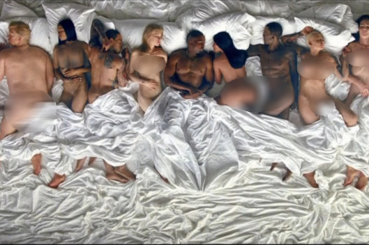 kanye west famous music video uncensored