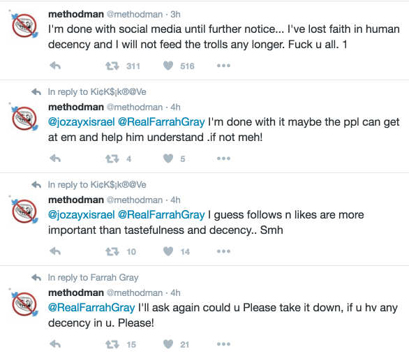 method man twitter quit social media