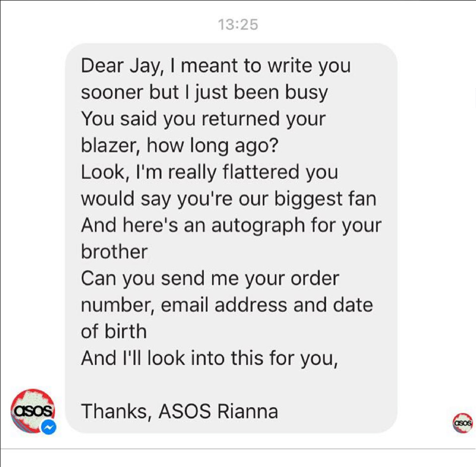 rianna asos reply jay whalley