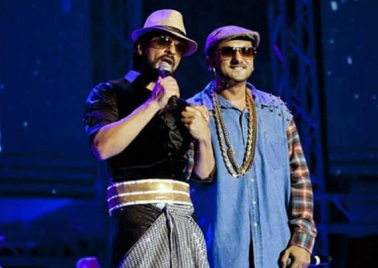 yo yo honey singh and shah rukh khan