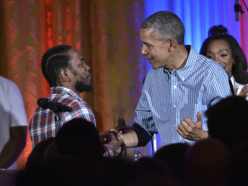 kendrick lamar obama birthday party - Rappers Attend President Barack Obama's Birthday Party