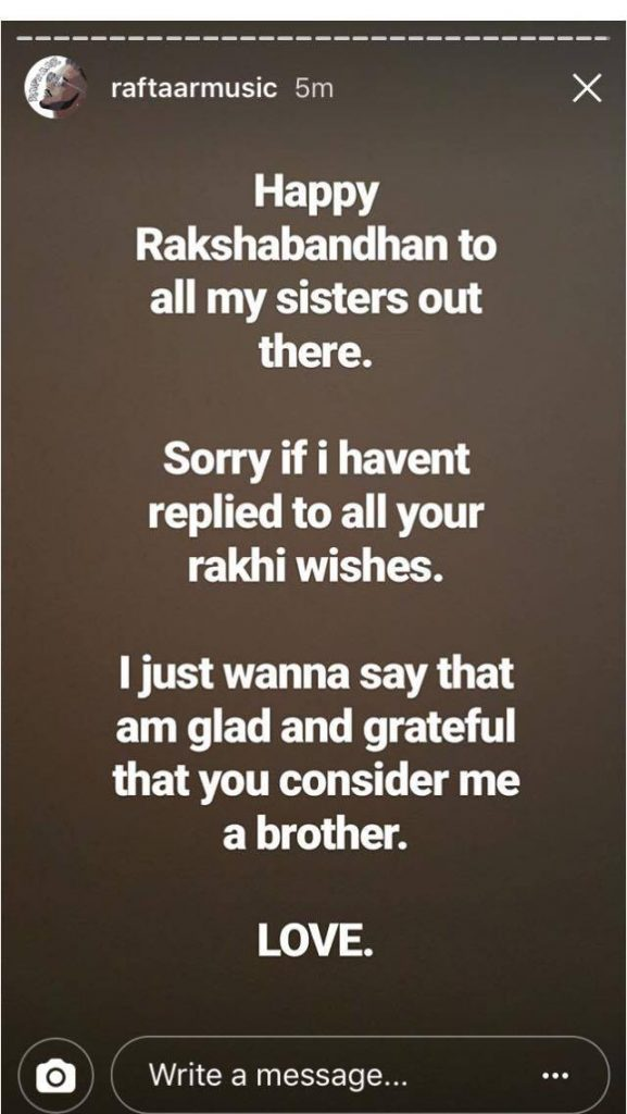 Raftaar Wishing Happy Rakhi