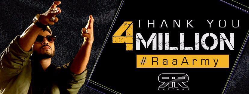 Raftaar-4 Million Facebook Banner Image