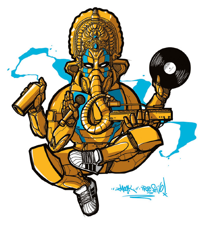 Key Elements Of Hip Hop Are Djing Graffiti Mcing Breaking And The Fifth One Which Binds Them All Is Knowledge Together They Make The Panchamahabhutas