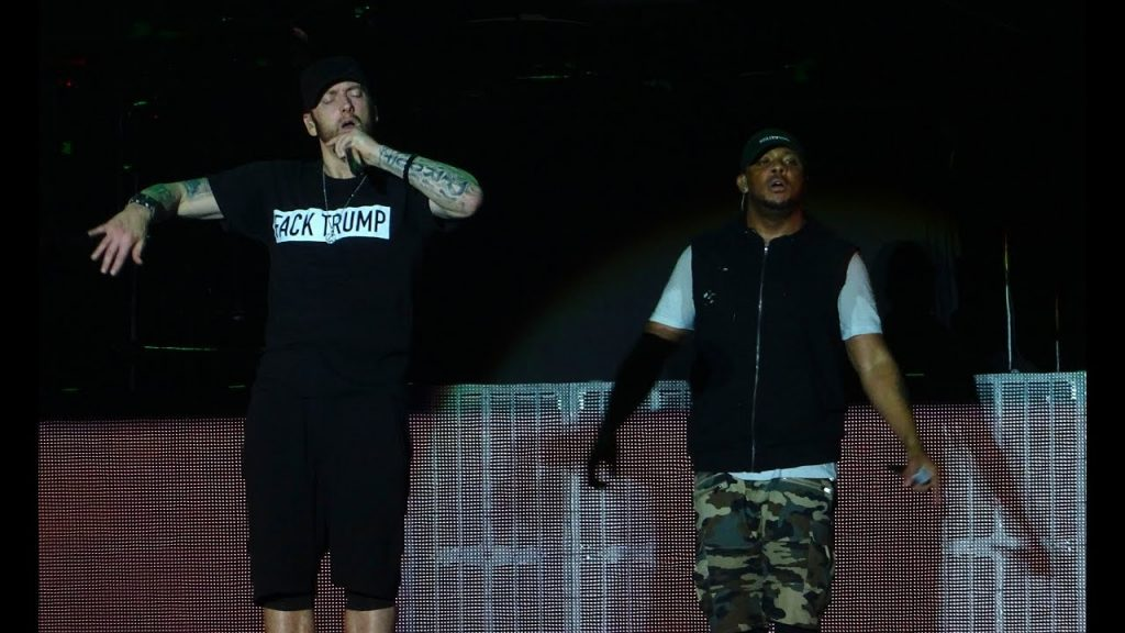 WHOA! Eminem Yells Motherf*ck Donald Trump On Stage!