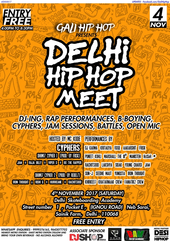 "Delhi Is All Set For The ""Delhi Hip-Hop Meet"" This November!"